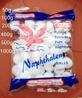 EAGLE Naphthalene Cockroach Geckos Pest Insect Moth Control Snow Balls  100g- Approximately 50 Balls
