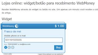 webmoney botão para recebimento