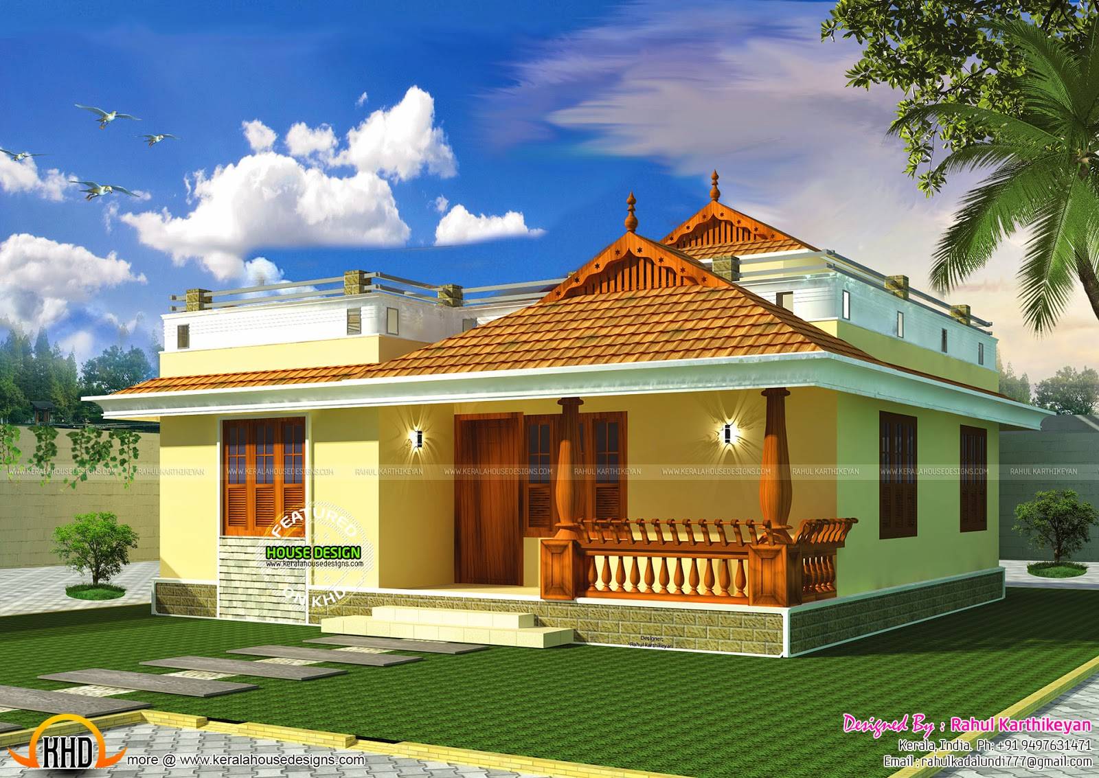 May 2015 kerala home design and floor plans for Small traditional home plans