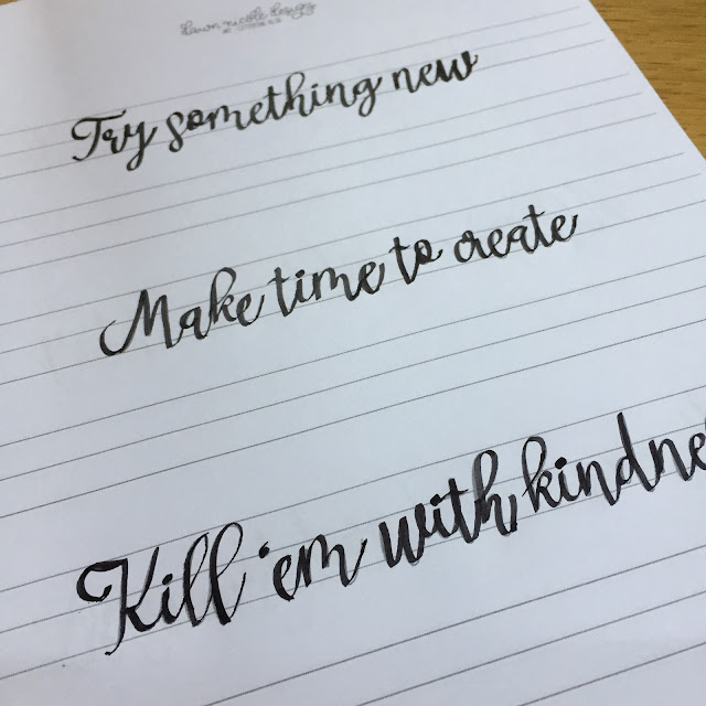 Practicing Modern Calligraphy