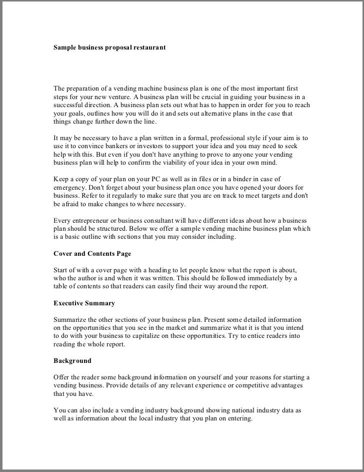 One Page Executive Summary Template Small Business Plan Executive