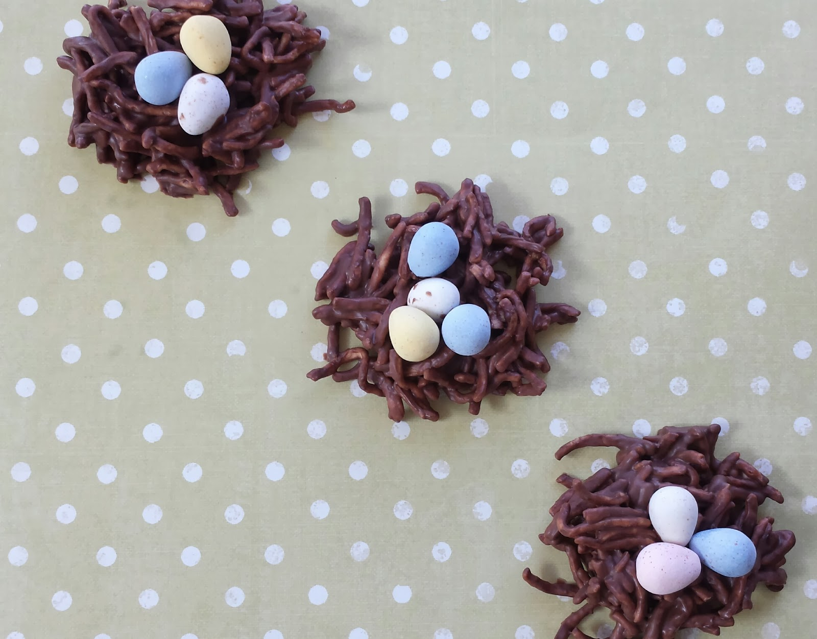 candy bird nests