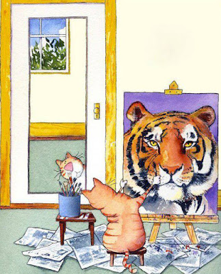 Cat Painting How He Imagines Himself