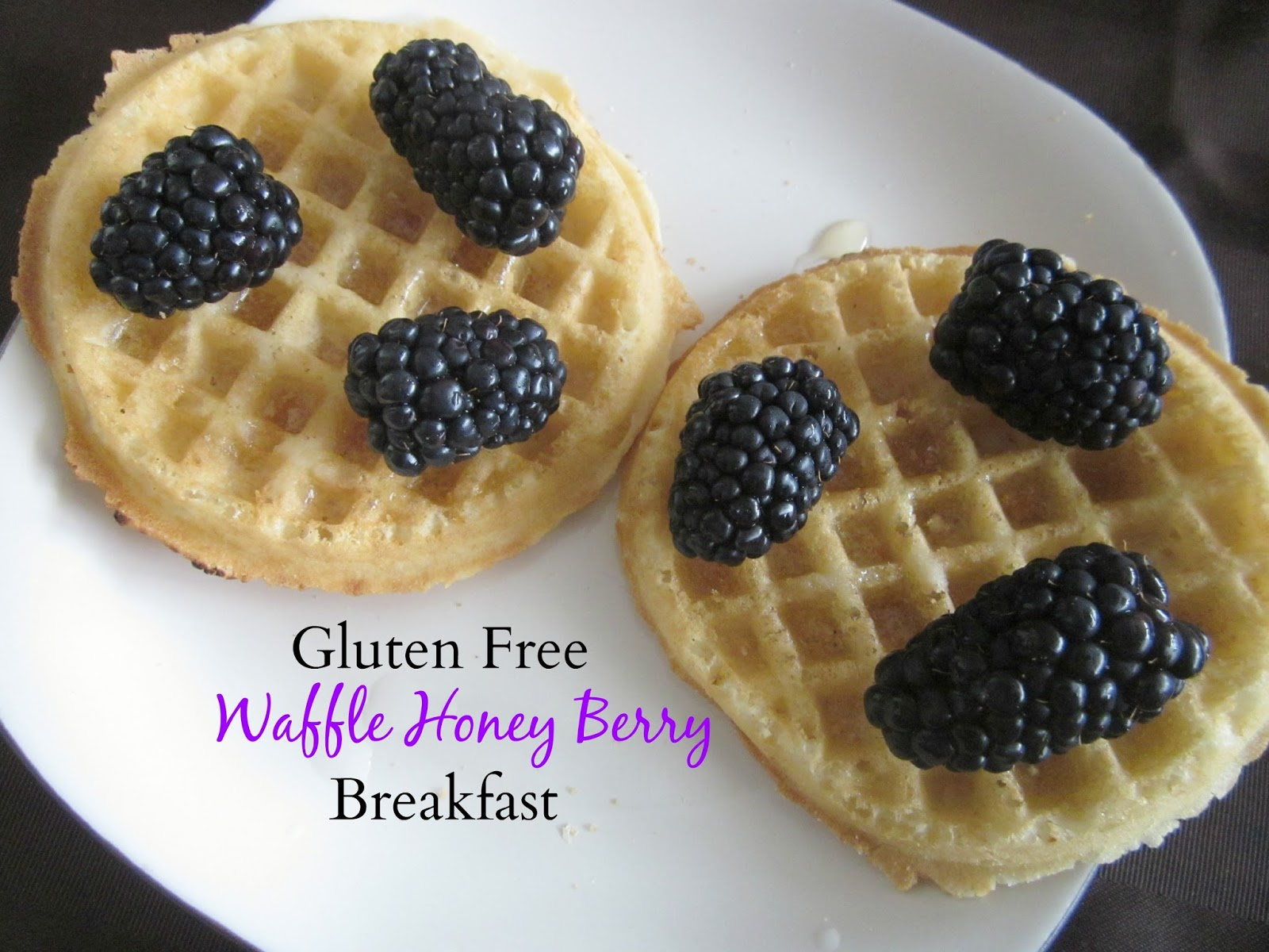 gluten free waffle honey berry breakfast