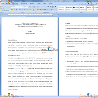 Download Proposal Pemagaran Sekolah Jenjang SD SMP SMA Format Word