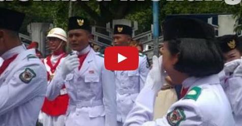 Bendera Merah Putih Gagal Dikibarkan, Seluruh Paskibra Menangis Tersedu-Sedu (Video)