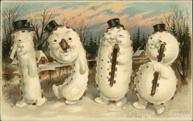 wishing you a very happy new year heres a collection of 30 strange and creepy new years postcards from between the 1900s and 1910s