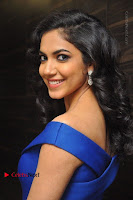 Actress Ritu Varma Pos in Blue Short Dress at Keshava Telugu Movie Audio Launch .COM 0041.jpg