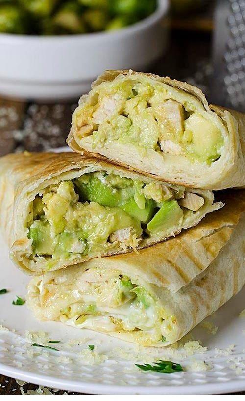 La Délicieuse Recette des Burritos au Poulet Et Avocat