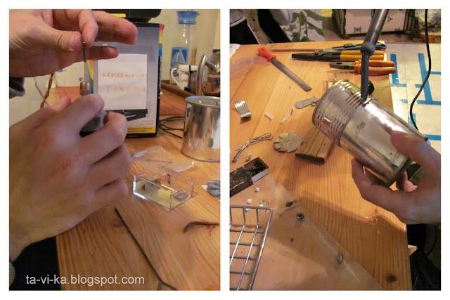 как сделать модель парового двигателя