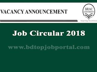BRAC University Job Circular 2018