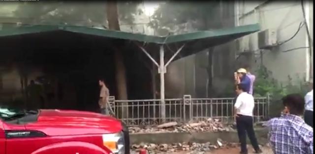 Cháy lớn tại Đại học Sư Phạm - Đại học Quốc Gia Hà Nội trong kỳ thi THPT 2016