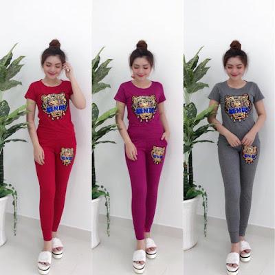 Sỉ đồ bộ tay ngắn quần dài logo giá rẻ tại biên hòa đồng nai