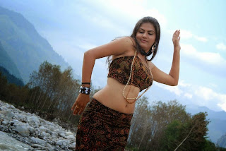 Actress Soundarya Hot Navel Show Stills