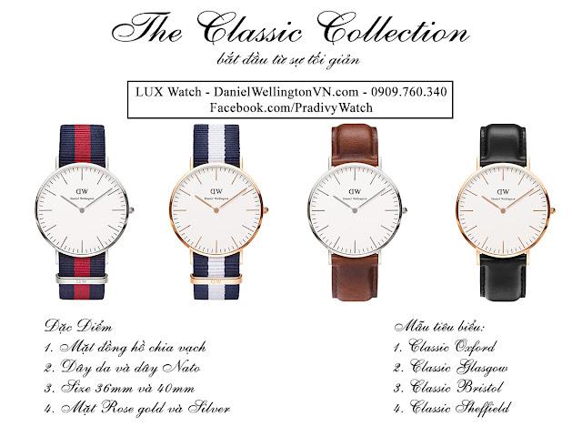 Daniel Wellington Classic: dòng đồng hồ cơ bản nhất
