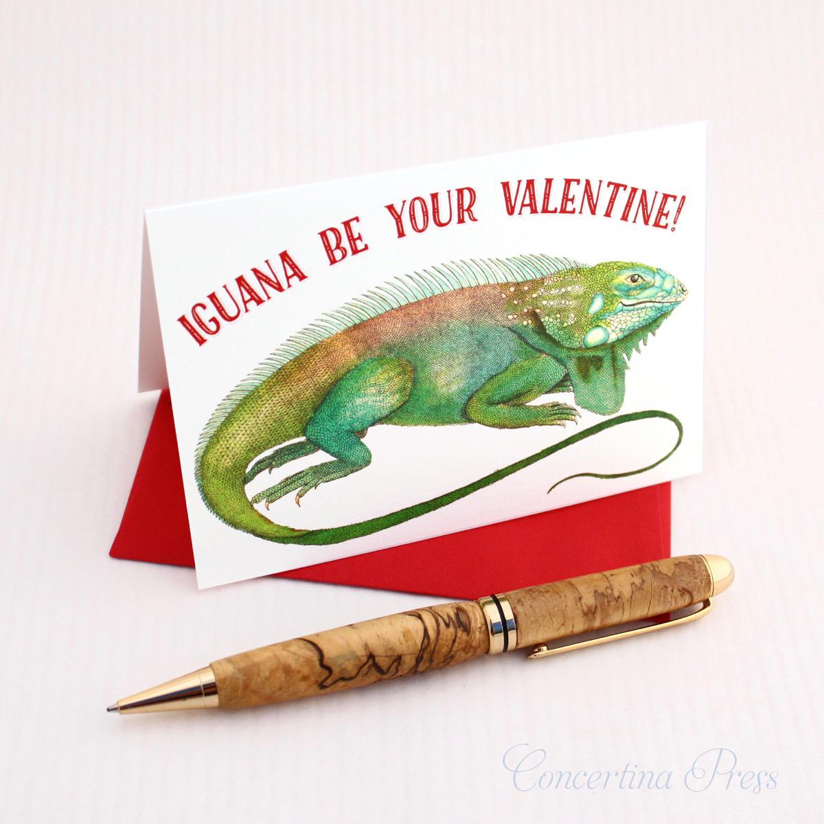 Iguana Valentine for Lizard Lovers by Concertina Press