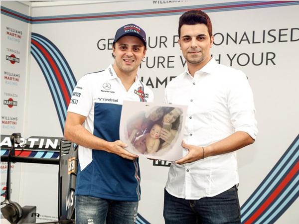 Montagem de foto com o automobilista  Felipe Massa