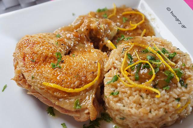 Λεμονάτο Κοτόπουλο στην Κατσαρόλα