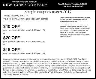 free New York And Company coupons for march 2017
