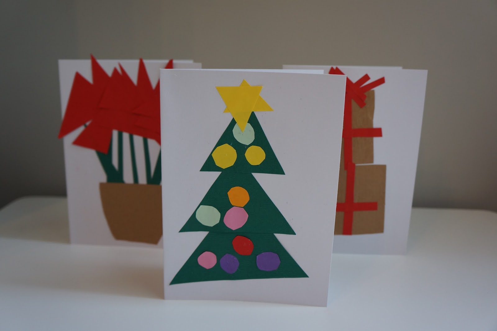christmas tree card paper craft