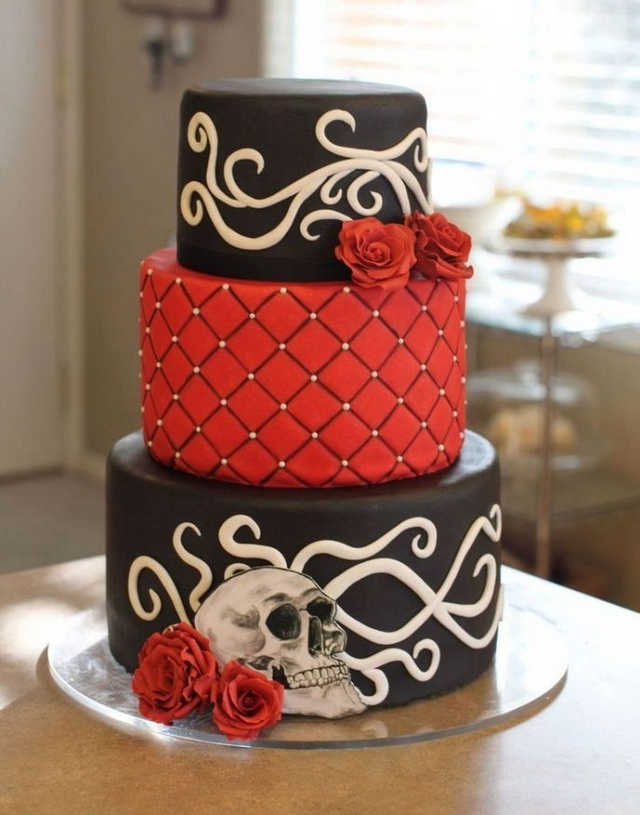 Top 7 Gorgeous and Spooky Halloween Themed Wedding Cakes | Wedding ...