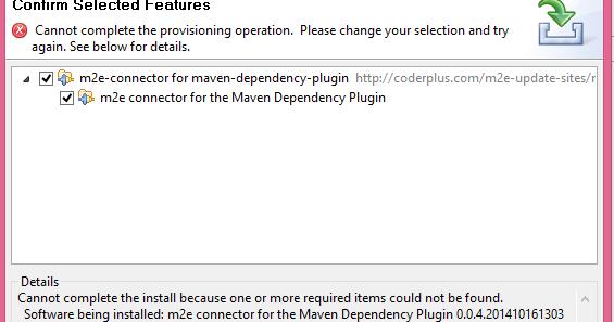 Error-JavaEE[Solved] : m2e Maven Dependency Plugin Install