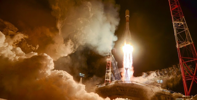 A Russian Soyuz-2.1b rocket has thundered into space from Site 43/4 at the Plesetsk Cosmodrome in Archangelsk Region, to deliver the latest GLONASS-M satellite for the country's homegrown GLObal NAvigation Satellite System (GLONASS). Credit: Russian Ministry of Defense