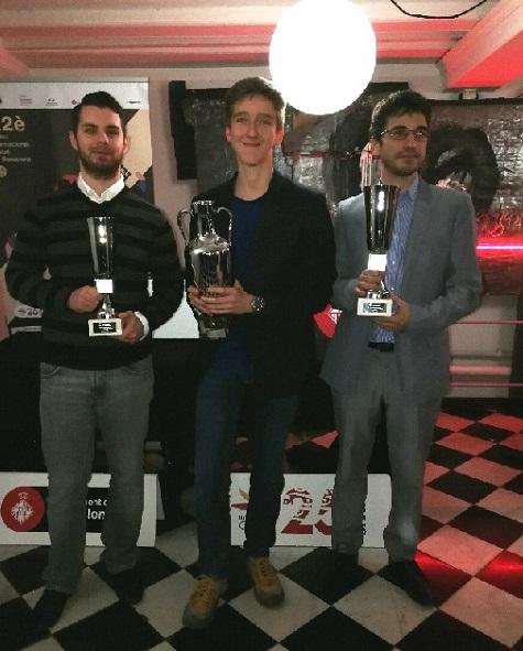 Podio del Torneo Magistral Internacional Ciudad de Barcelona 2017