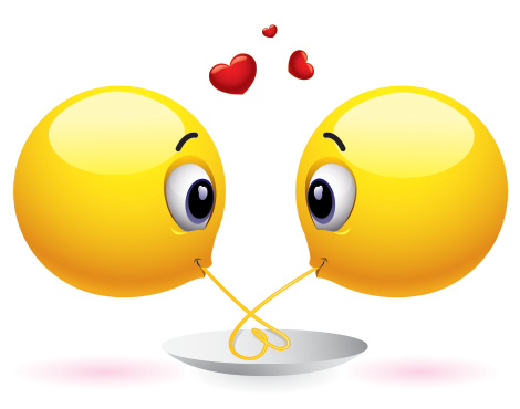 Romantic spaghetti emoticons