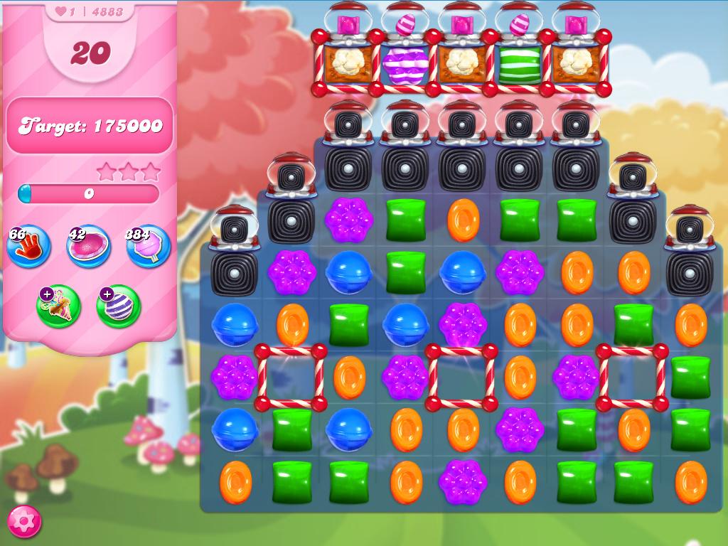 Candy Crush Saga level 4883