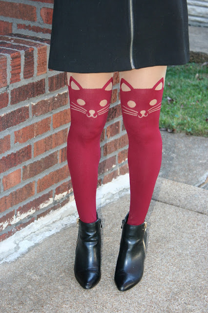 cat tights from hot topic