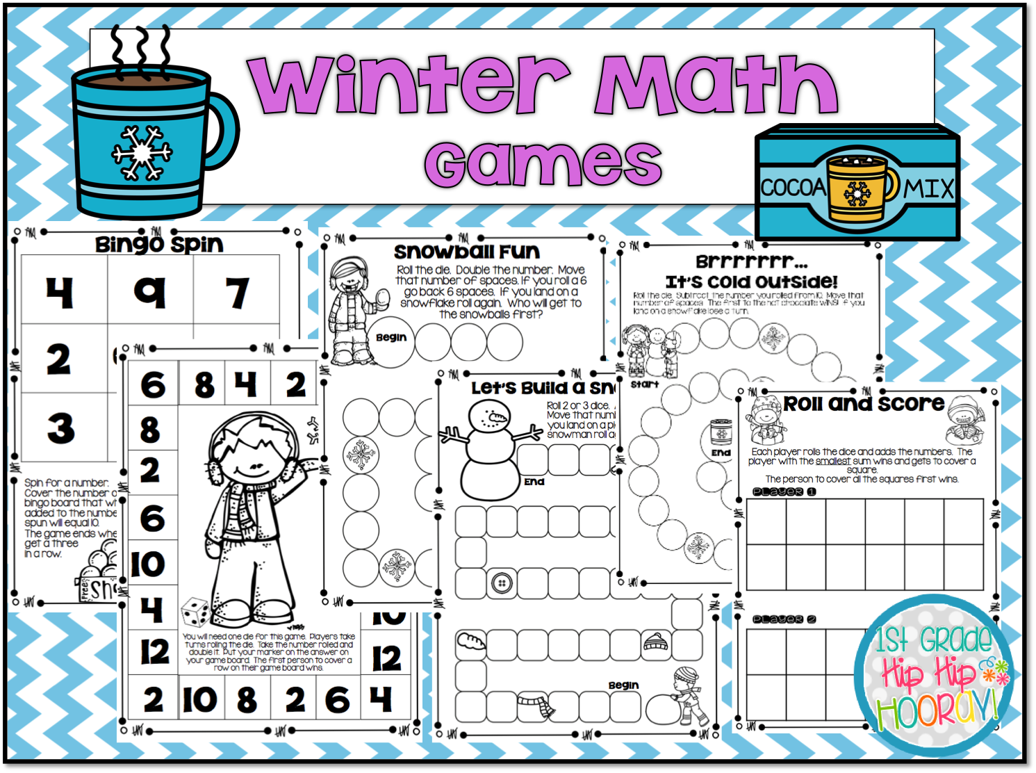 1st Grade Hip Hip Hooray Math Games Addition And