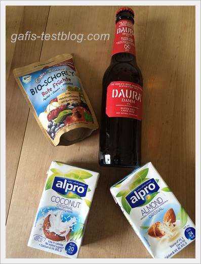 Capri-Sonne Bio-Schorly - Rote Früchte, Daura Damm Lagerbier und Alpro Kokosnuss- und Mandeldrink