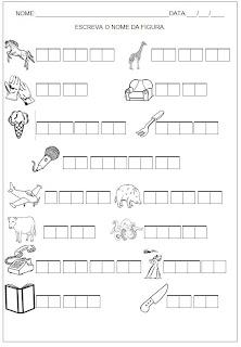Hipótese de Escrita Silábica Alfabética - Escreva o nome da figura 15