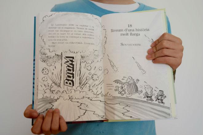 colección Capitán calzoncillos, interior cuentos, libros infantiles