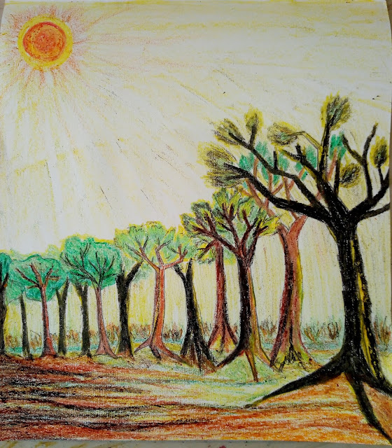 Spring time tree drawing
