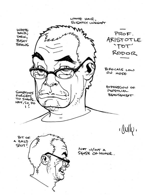 The Dork Review: Question Model Sheets by Cully Hamner