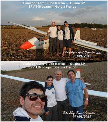 Planador KW-1 Voo a Vela Aero Clube Marilia SPV 110 Guaira SP