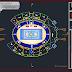 مخطط مشروع ملعب متعدد الرياضات اوتوكاد dwg