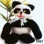 patron gratis oso panda amigurumi de punto, free knit amigurumi pattern panda bear