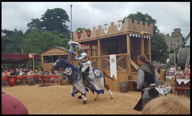 Team York or Team Lancaster at Warwick Castle