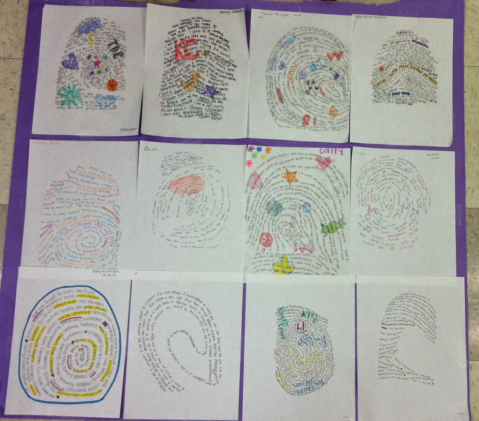 We Teach High School Fingerprint Activity