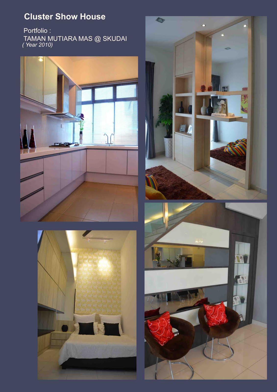 inspiration interior design cluster show house taman mutiara mas skudai. Black Bedroom Furniture Sets. Home Design Ideas