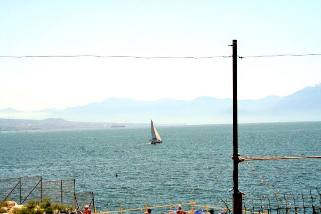 mare, acqua, cielo, estate, vacanze, montagne, barca a vela