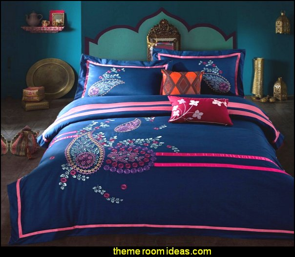 Moroccan decor  Cotton Embroidery Bedding Sets Duvet Cover Sets