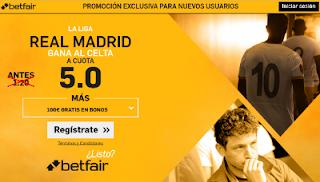 betfair supercuota 5 Real Madrid gana Celta Liga 17 mayo