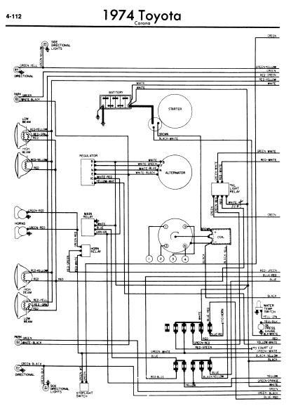 toyota corona 1974 wiring diagrams online manual sharing. Black Bedroom Furniture Sets. Home Design Ideas