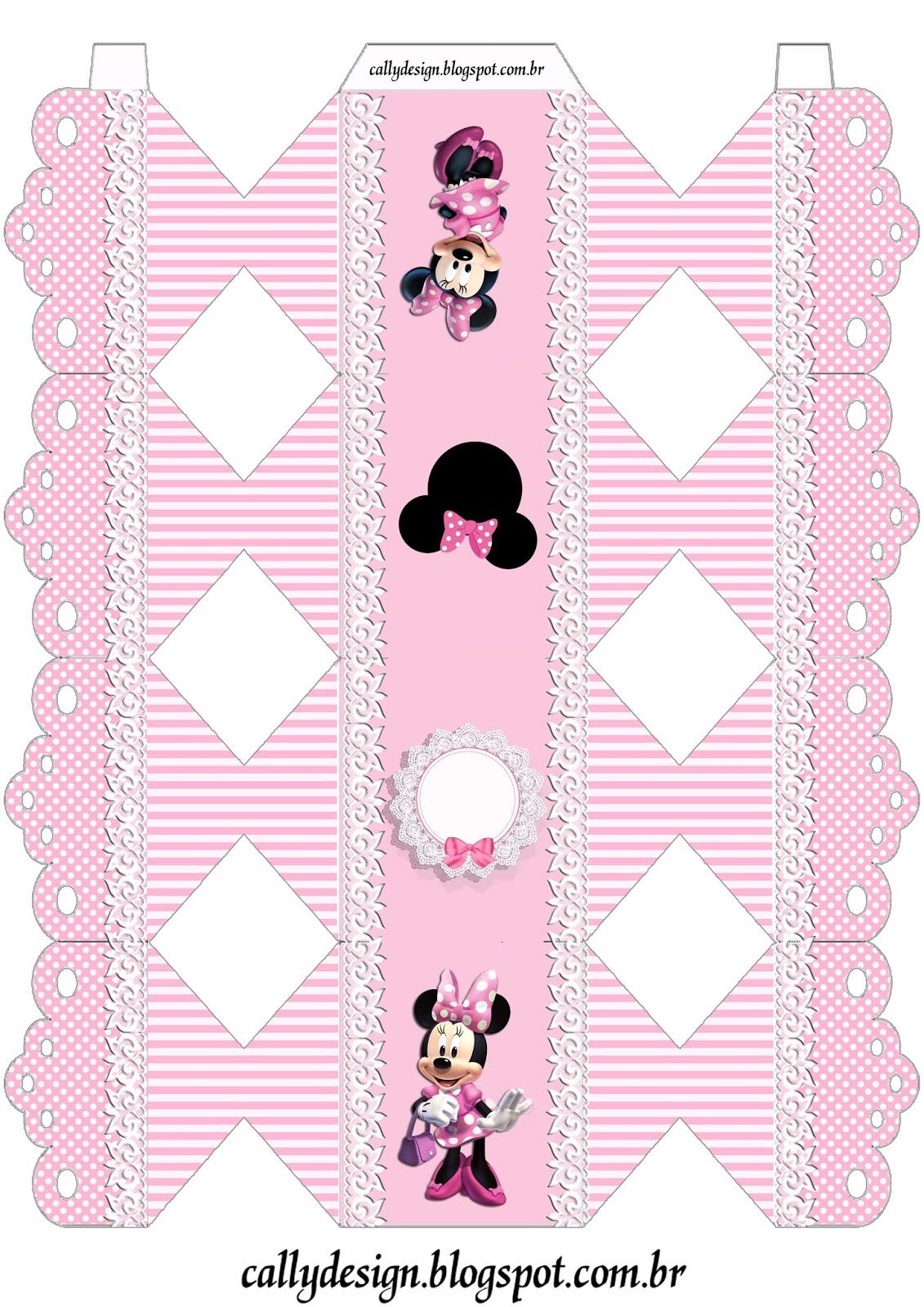 caixa bala minnie rosa