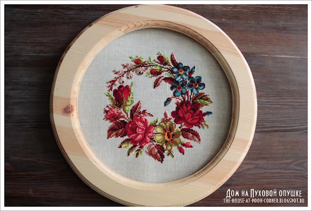 Вышивка старинные розы