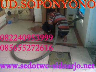 Sedot WC Bakung Temenggungan Sidoarjo, 085755555878